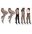 female legs and stockings realistic vector image vector image