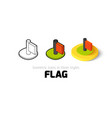 Flag icon in different style vector image vector image