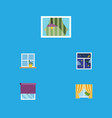 flat icon glass set of curtain glass frame vector image vector image