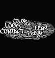 fresh look contact lens text background word vector image vector image