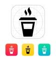 Half plastic cup icon vector image vector image