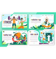 healthy lifestyle fitness concept for website vector image