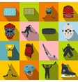 Hockey flat icons set vector image vector image