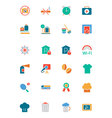 Hotel and Restaurant Colored Icons 9 vector image vector image
