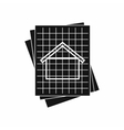 House blueprint icon simple style vector image vector image