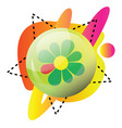 icq app logo and colorful shapes icon on a white vector image vector image