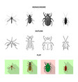 insect and fly sign set of vector image vector image