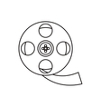 Isolated cinema film reel design vector image vector image