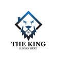 king lion construction logo designs vector image