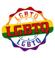 lgbtq sign or stamp vector image