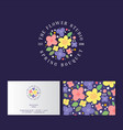 logo flower shop plant and flowers studio vector image vector image