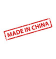 made in china stamp texture rubber cliche imprint vector image vector image
