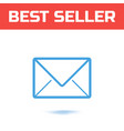 mail icon the symbol for your web site design or vector image vector image