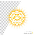 manipura - chakra human body vector image vector image