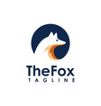 minimalist fox logo icon vector image