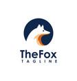 minimalist fox logo icon vector image vector image
