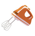 mixer icon kitchen appliance for mixing foods vector image