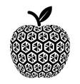 nano apple icon simple black style vector image vector image