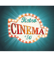 Old Cinema banner with light bulbs vector image vector image