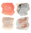 orange abstract watercolor background vector image vector image