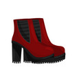 pair of stylish female boots with high heels side vector image