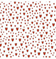 pattern of red hearts on white background vector image