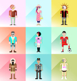 people avatar set 3 vector image