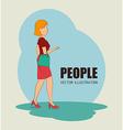 People digital design vector image vector image