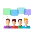 People Icons with Dialog Bubbles vector image vector image