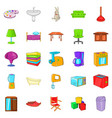 piece of furniture icons set cartoon style vector image vector image