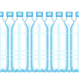 plastic bottle background vector image vector image