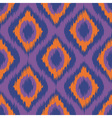 purple ikat stripes seamless background orange vector image vector image