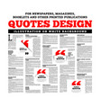 quotes design for newspapers magazines books and vector image vector image