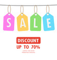 sale discount special offer weekend tag vector image