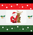 Santa Claus with reindeer on Christmas Background vector image vector image