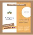 scenery company brochure template busienss vector image vector image