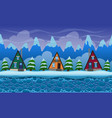 seamless cartoon landscape with fir-trees vector image vector image