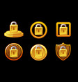 security icon set lock security vector image