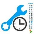 Service Time Flat Icon with Bonus vector image vector image