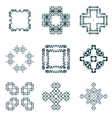 Set frame and decorative element vector image vector image