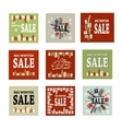 Set Winter sale background with black red and vector image vector image