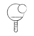 sketch draw ping pong paddle and ball vector image