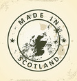 Stamp with map of Scotland vector image
