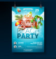 summer beach party flyer design with vector image vector image
