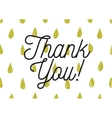 Thank you inscription Greeting card with vector image