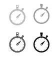 the stopwatch the black and grey color set icon vector image vector image