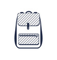 travel backpack isolated icon vector image vector image