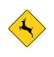 usa traffic road sign deer crossing ahead vector image vector image