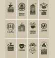 vintage coffee vector image