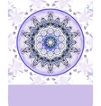 Violet vintage pattern Hand drawn abstract vector image vector image